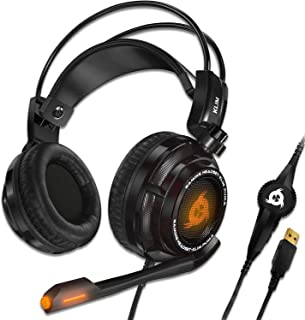 KLIM Puma - USB Gamer Headset with Mic - 7.1 Surround Sound Audio - Integrated Vibrations - Perfect for PC and PS4 Gaming ...