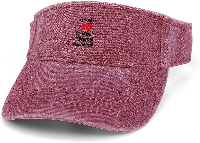 70th Award Birthday Gifts Women Adjustable Clip Sun Finally resale start Wide Visor Brim On