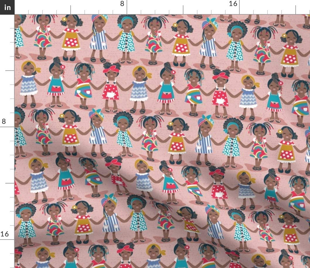 Sale Spoonflower Fabric - Small Limited Special Price Scale Pink Kids Girl Background Smile