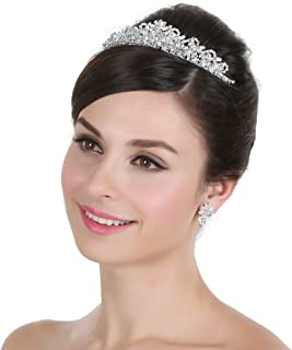 Clear Crystal Beads Rhinestone Bridal Pageant Tiara Crown T996