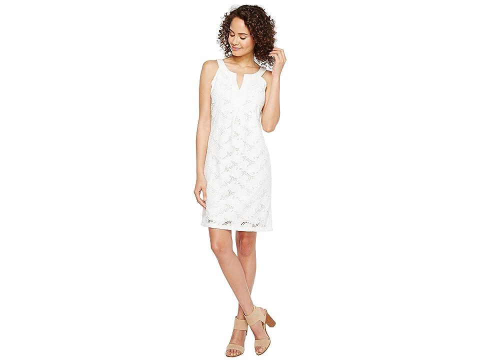 Tommy Bahama Eyelet Short Shift Dress (White) Women