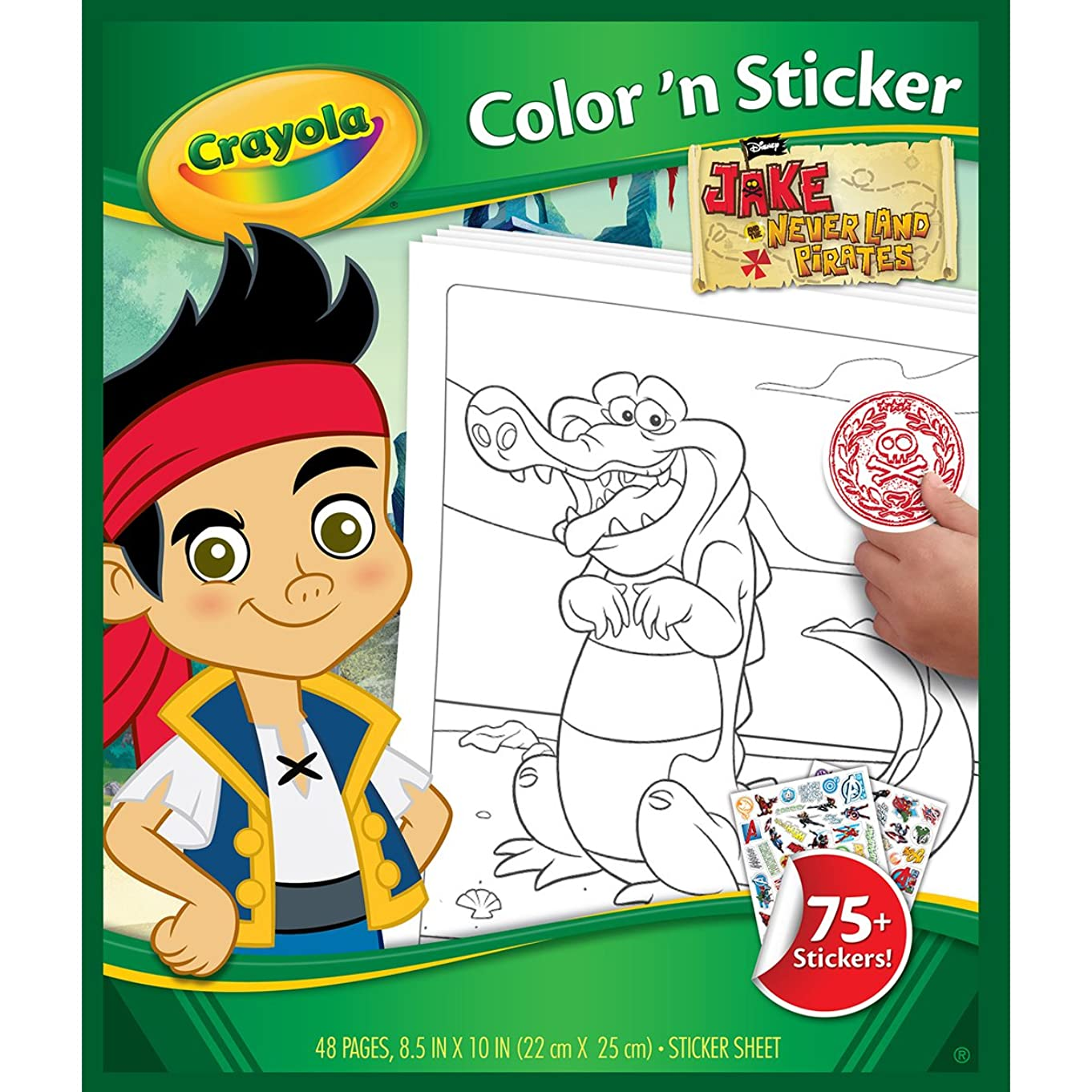 Crayola Jake and The Neverland Pirates Color 'n Sticker Books