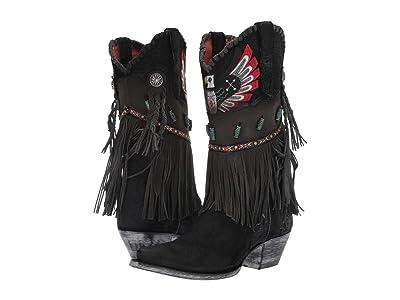 Dan Post T-Bird (Black Fringe) Cowboy Boots