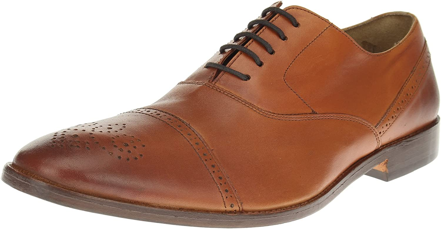 Luciano Natazzi Mens Dress Shoes Full Grain Leather Cap-Toe Oxford Lace-Up SL302