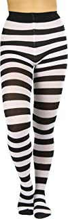 brown and white vertical striped tights