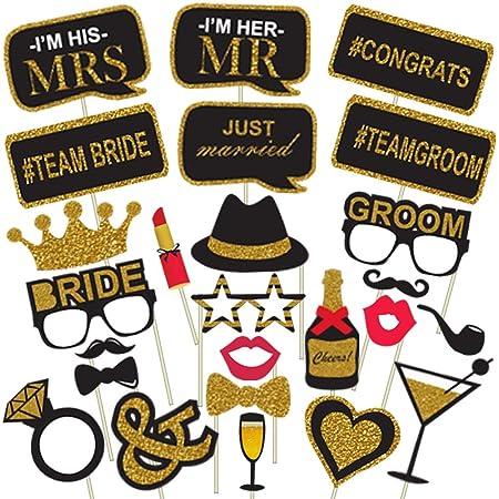Party Propz™ Bachelorette Theme Photobooth Props (Pack of 25) / Bachelorette Party Supplies / Bachelorette Party Decoration