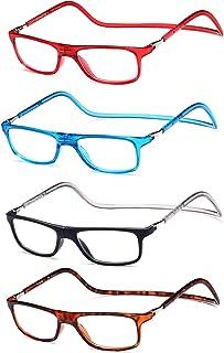 0e8bd2281d Pack 4 Gafas Magnéticas Regulables y Plegables con Correa, para Lectura  Vista Cansada Presbicia,