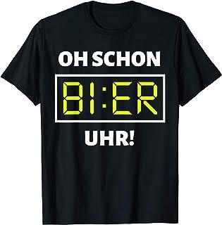Bier Uhr T-Shirt | Lustiges Malle Party Alkohol Bier Shirt