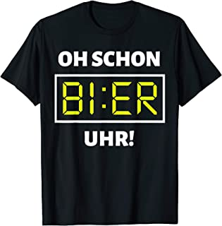 Bier Uhr T-Shirt | Lustiges Malle Party Alkohol Bier Shirt