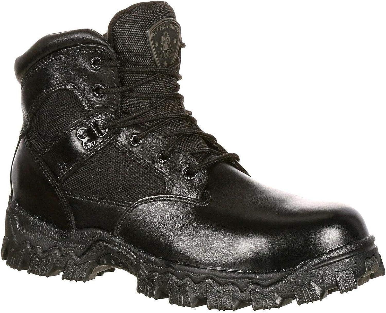 Rocky Tactical Boots Womens Round Toe AlphaForce Black FQ0004167