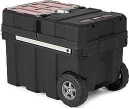 Keter 241008 Masterloader Plastic Portable Rolling Organizer Tool Box Storage Solution