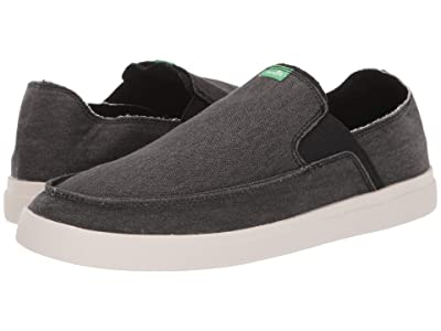 Sanuk Pick Pocket Slip-On Sneaker (Black/Natural) Men