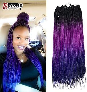 Ombre Box Braids Crochet Hair Crochet Braids Box Braiding Synthetic Hair Extension 24inch (5 packs/order)