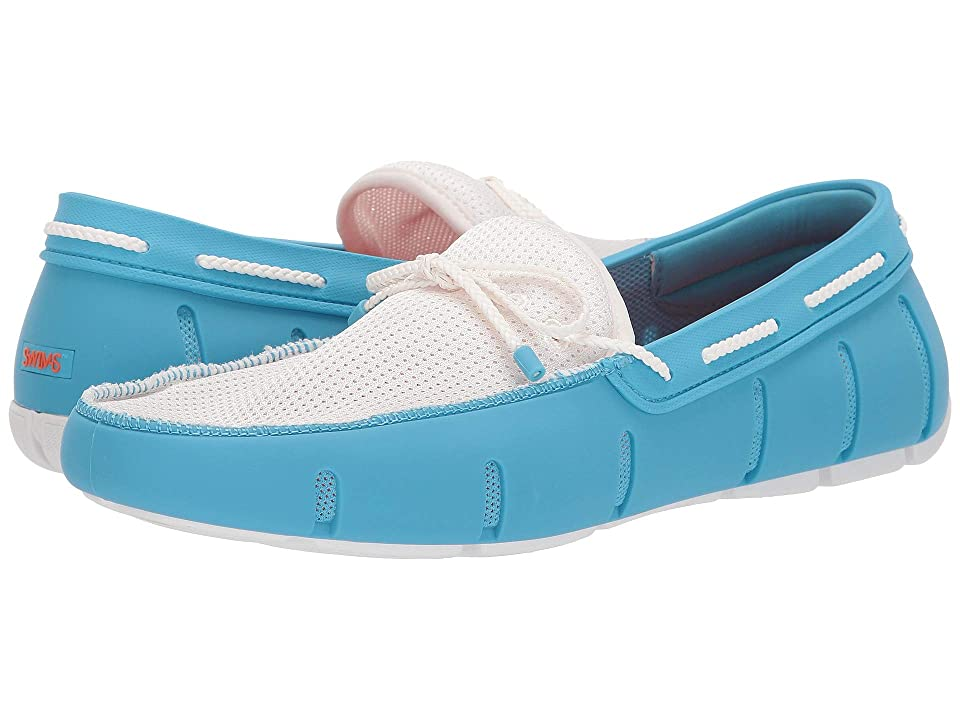 SWIMS Braided Lace Loafer (Norse Blue/White) Men