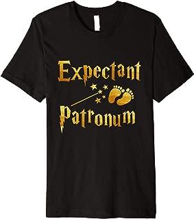 Retro Expectant Patronum Pregnancy Announcement Couple Mom Premium T-Shirt