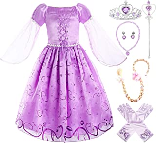 ReliBeauty Little Girls Costume Mesh Sleeve Princess Fancy Dress