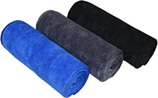 MAYOUTH Gym Towels for Men & Women Microfiber Sports Towel Set Fast Drying & Absorbent Workout Sweat Towels for Fitness,Yoga, Golf,Camping 3-Pack Gift Present