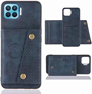 for OPPO F17 Pro Leather Case with card slot Hidden car magnet Wallet phone Cover RFID Blocking Credit Card Holder PU+TPU ...