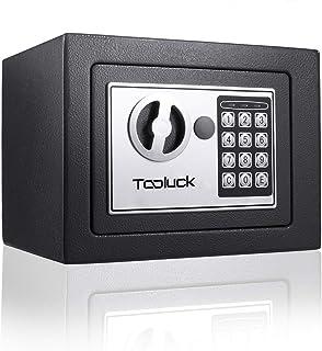TOOLUCK Safe Box, Digital Security Safe, Fireproof Keypad Safe Lock Box with Keys, Money Box and Deposit Box for Cash Gun ...