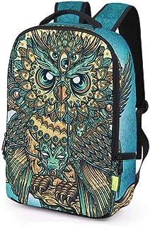 XHHWZB Teen Backpack Creative Fashion 3D Multi-Eyed Owl Student Bag