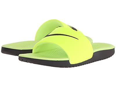 Nike Kids Kawa Slide (Little Kid/Big Kid) (Volt/Black) Boys Shoes