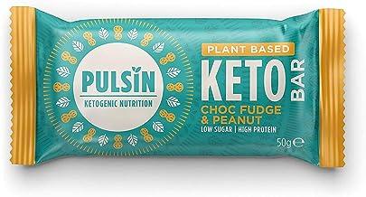 Pulsin Pulsin Keto Bar for Plant-Based Vegan Protein in Choc Fudge and Peanut Flavour 50 g Estimated Price : £ 5,30