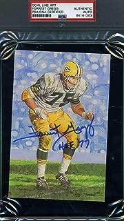 FORREST GREGG HOF 77 PSA DNA Autograph Goal Line Art Card GLAC Hand Signed Slabbed
