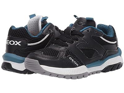 Geox Kids Tuono 2 (Little Kid) (Black/Blue) Boy