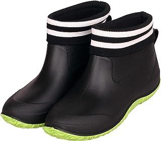Zapatos de Lluvia para Mujer Hombres Impermeable Zapatos de Jardin Antideslizante Botines de Goma de Trabajo Calentar Botas Invierno Talla 35-44