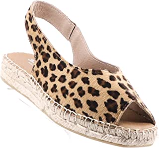 The Natural Shoe Company Bo Espadrille Slide - Leopard