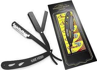 Straight Razor - Shaving Kit 100 Shark Razor or CN Blades Single for Straight Edge Razor that break in 2 from 50 Double Edge Blades (100 Single Edge Blades + Straight Razor)