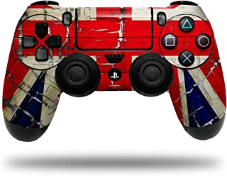 Vinyl Skin Wrap for Sony PS4 Dualshock Controller Painted Faded and Cracked Union Jack British Flag (CONTROLLER NOT INCLUDED)