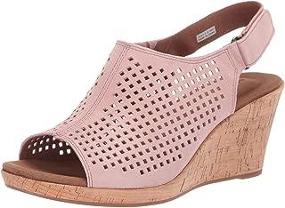 Women's Briah PERF Sling Wedge Sandal Pink Metallic 6.5 W US
