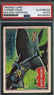 YVONNE CRAIG PSA DNA Coa Hand Signed 1966 Batman Card #37A Authentic Autograph