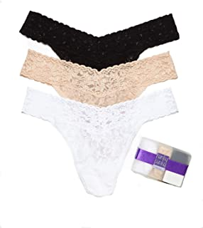 hanky panky Signature Lace Original Rise Thong 3 Pack, One Size (4-14)