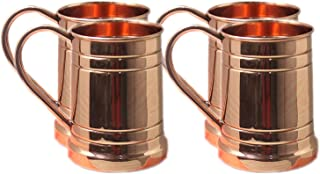 PARIJAT HANDICRAFT Large Moscow Mule Copper Mugs: Make Any Drink Taste Much Better! 100% Pure Solid Copper for His & Hers ...
