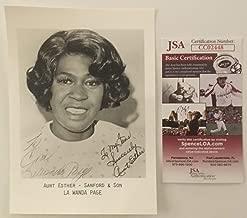 Lawanda Page Autographed Signed Memorabilia 5X7 Photo JSA Certified Sanford Son Aunt Esther