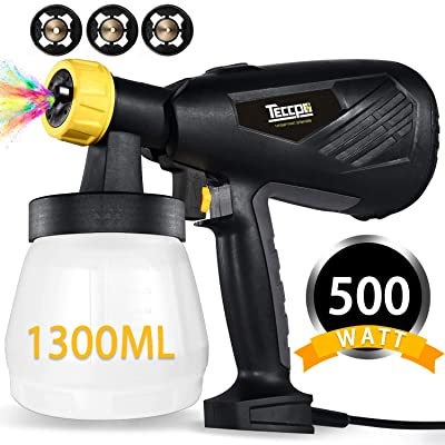 Paint Sprayer, TECCPO 500 Watts 800ml/min HVLP ...