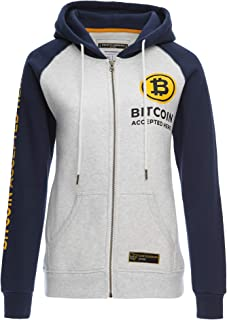 Cointelegraph Zip Hoodie Bitcoin Accepted Here Unisex | Cryptocurrency Blockchain (Blue)