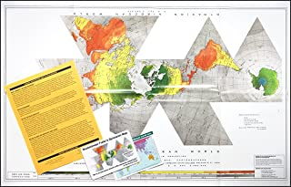 Buckminster Fuller Raleigh Edition Dymaxion Map - paper folded map with one-page Explanation