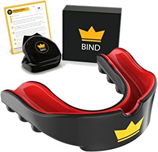 Youth Mouth Guard Sports - Custom Mouldable Gel Fit Mouthguards for Sports Mouth Guard for Wrestling, Hockey, Boxing, American Football, MMA, Boys Girls Kids, Childrens, Teenagers, Child