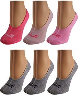 Avia Woman's No Show Athletic Performance Stretch Sport Liner Socks With Non-Slip Grip (6 Pack)