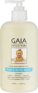 GAIA Skin Naturals Baby Hair and Body Wash, 500mL