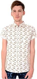 Homme run /& mouche vintage indie rétro bleu marine flamant rose chemise à manches longues