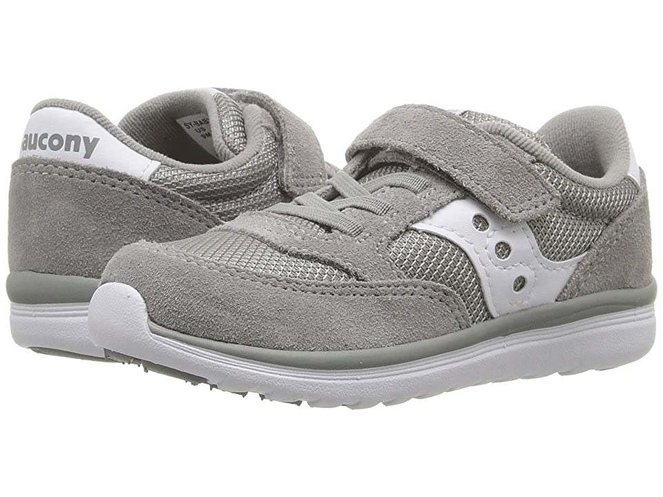 Saucony Kids Originals Jazz Lite (Toddler/Little Kid) (Grey/White) Kids Shoes