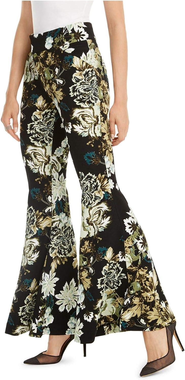 INC International Concepts Women's Printed Flare-Leg Pants