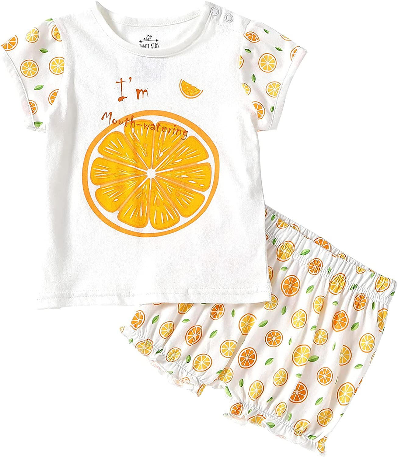 Zanie Kids Baby Girl Clothes Short Sl High quality Sleeves Infant Pjs Max 53% OFF Pajamas