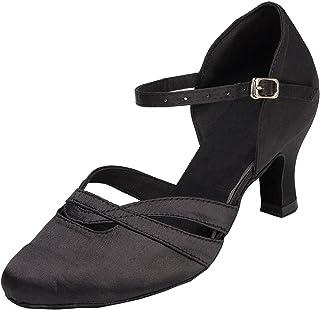 Chaussures à talon bas pour femmes, TH152 Minitoo - Confortables -En satin -Pour un mariage, la piste d...