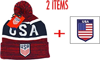 aa653f16c17 USA US Soccer Official United Sates Beanie Winter and Sticker Flag