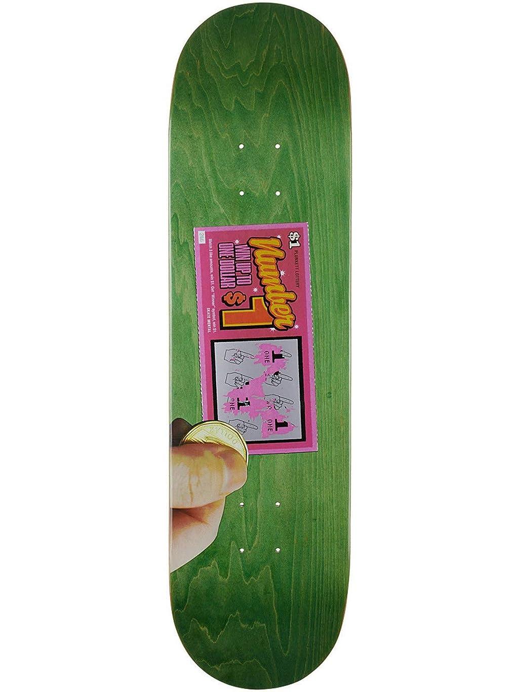 Skate Mental Green Plunkett Scratcher 8.25インチ スケートボードデッキ (デフォルト、グリーン)